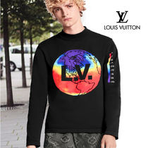 Louis Vuitton Nylon Street Style Long Sleeves Long Sleeve T-shirt Logo