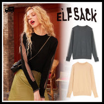 ELF SACK Chiffon Street Style Medium Fringes Office Style