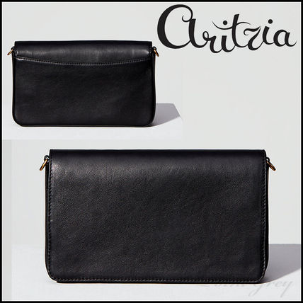 [Aritzia / Auxiliary] Leather Flap Crossbody