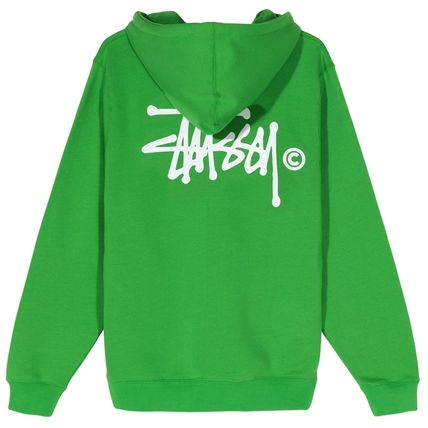 STUSSY Hoodies Pullovers Blended Fabrics Street Style Long Sleeves Plain 2