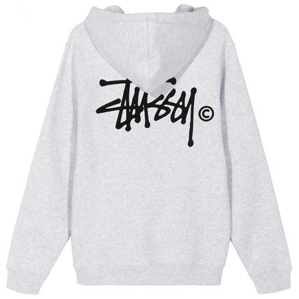 STUSSY Hoodies Pullovers Blended Fabrics Street Style Long Sleeves Plain 8