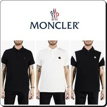 MONCLER Street Style Plain Medium Short Sleeves Polos