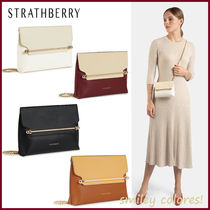 STRATHBERRY Casual Style Leather Elegant Style Shoulder Bags