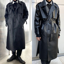 Street Style Plain Long Oversized Coats