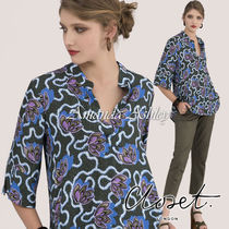 closet Flower Patterns Casual Style Cropped Medium Shirts & Blouses