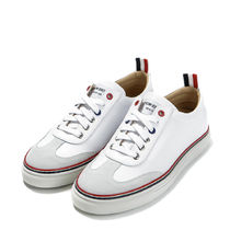 THOM BROWNE Unisex Plain Leather Sneakers