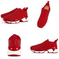 Christian Louboutin Spike Sock Studded Plain Handmade Dad Sneakers Sock Sneakers Logo
