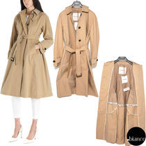 MaxMara Plain Medium Elegant Style Trench Coats
