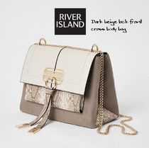 River Island Casual Style Faux Fur Chain Shoulder Bags