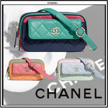CHANEL Casual Style 2WAY Chain Plain Leather Shoulder Bags