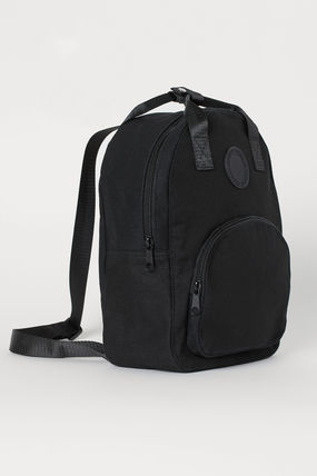 Casual Style Unisex Canvas Street Style Plain Backpacks