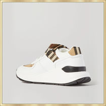 Burberry Leather Logo Low-Top Sneakers