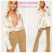 PrettyLittleThing Long Sleeves Plain Long Party Style Office Style