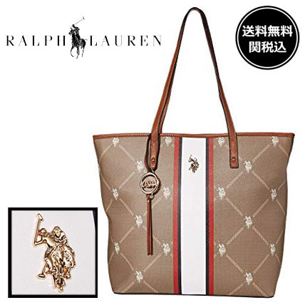 Monogram A4 Office Style Elegant Style Totes