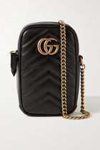 GUCCI GG Marmont Unisex Plain Leather iPhone 8 iPhone 8 Plus iPhone X
