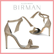 Alexandre Birman Open Toe Casual Style Leather Pin Heels Party Style