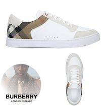 Burberry Other Check Patterns Suede Blended Fabrics Plain Leather