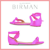 Alexandre Birman Open Toe Casual Style Plain Leather Party Style