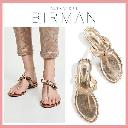 Open Toe Casual Style Plain Leather Party Style