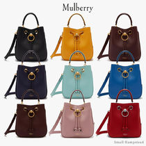 Mulberry Casual Style Blended Fabrics 3WAY Plain Leather Party Style
