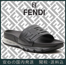 FENDI Street Style Plain Leather Shower Shoes Shower Sandals