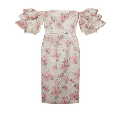 Flower Patterns Tight Medium Party Style Office Style