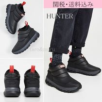 HUNTER Round Toe Rubber Sole Casual Style Street Style Plain