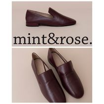 mint&rose. Plain Leather Loafer & Moccasin Shoes