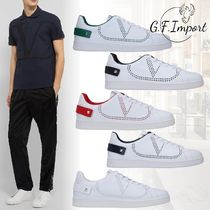 VALENTINO Studded Leather Logo Sneakers