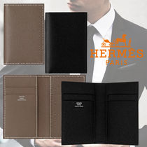 HERMES Unisex Leather Card Holders