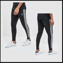 adidas Stripes Street Style Plain Cotton Logo Joggers & Sweatpants