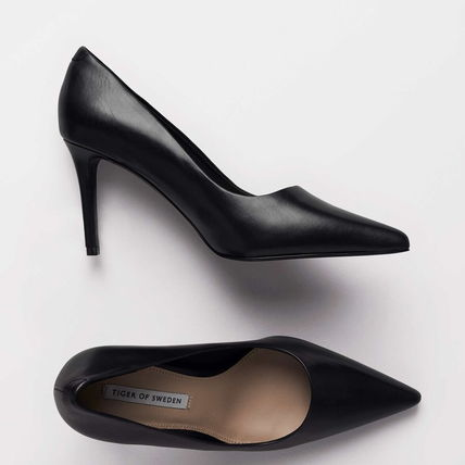 Casual Style Plain Pin Heels Party Style Office Style
