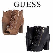 Guess Open Toe Lace-up Casual Style Plain Elegant Style