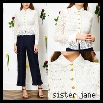 Sister Jane Casual Style Long Sleeves Plain Medium Party Style Lace