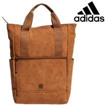 adidas Casual Style Suede Street Style 2WAY Plain Backpacks