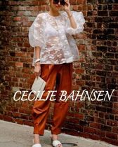 CECILIE BAHNSEN Casual Style Puffed Sleeves Street Style Plain Elegant Style