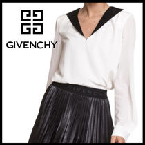 GIVENCHY Casual Style Silk Plain Shirts & Blouses