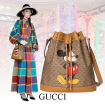 GUCCI GG Supreme Casual Style Unisex Street Style 2WAY Leather Purses