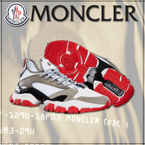 MONCLER Suede Leather Sneakers