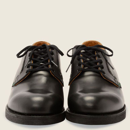 Street Style Plain Leather Oxfords