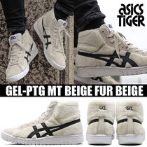 asics Round Toe Rubber Sole Casual Style Unisex Suede Street Style