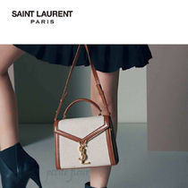 Saint Laurent Canvas 2WAY Plain Logo Shoulder Bags