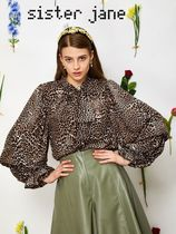 Sister Jane Leopard Patterns Long Sleeves Shirts & Blouses