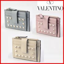 VALENTINO Studded Leather Card Holders