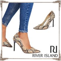 River Island Faux Fur Other Animal Patterns Pin Heels Elegant Style