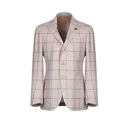 Other Plaid Patterns Wool Blended Fabrics Blazers Jackets