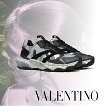VALENTINO Camouflage Leather Dad Sneakers Logo Sneakers