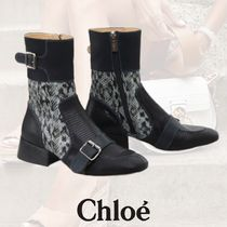 Chloe Casual Style Leather Party Style Office Style Python