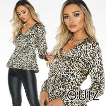 Quiz Leopard Patterns Casual Style Long Sleeves Medium