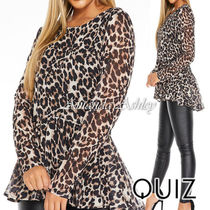 Quiz Leopard Patterns Casual Style Long Sleeves Party Style